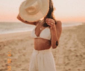 model, beach, and fashion image