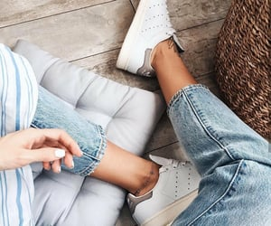 adidas, blue jeans, and denim image