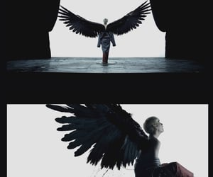 aesthetic, wings, and v image