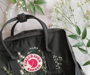 backpack, daisies, and fjallraven kanken image