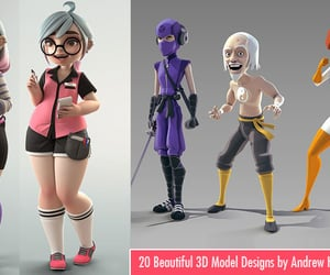 3d and 3d model image