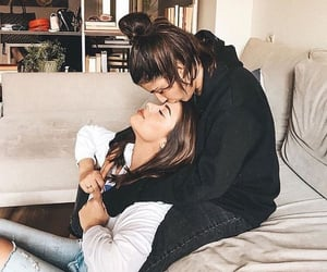 couple and lesbian image