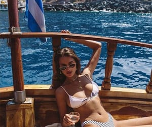 beach, holidays, and bikini image