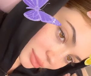 model, kylie, and butterfly image