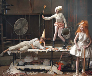 Lady gaga, Lily Cole, and vogue image