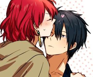 kiss, anime couple, and akatsuki no yona image