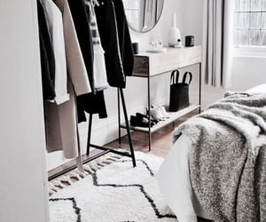 bedroom, fashion, and clothes image