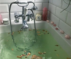 bath, aesthetic, and flowers image