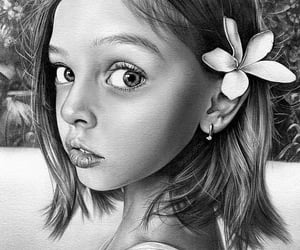 art, pencil drawing, and realistic drawings image