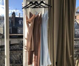 fashion, silk, and dress image