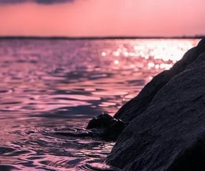 sea, water, and sunset image