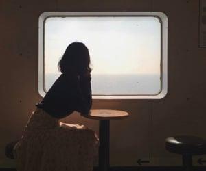 girl, wait, and thinking image