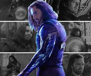 bucky, Marvel, and gif image