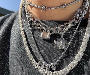 necklace, aesthetic, and style image