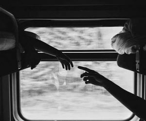 love, train, and black and white image