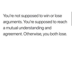 argument, lose, and win image