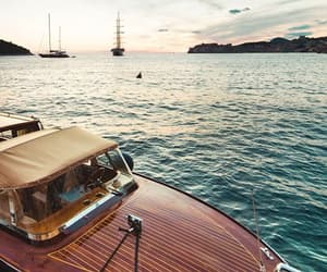 luxury, boat, and sea image
