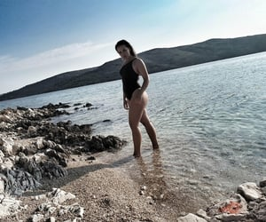 bikini, girl, and black image