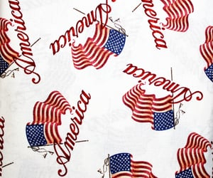 american flag, fabric, and sewing image
