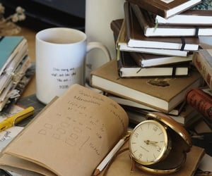books, girls, and letters image