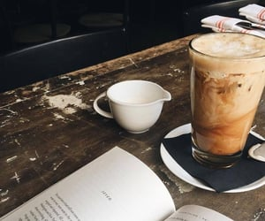 coffee, book, and autumn image