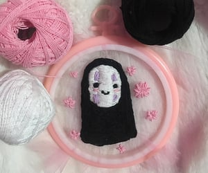 chihiro, embroidery, and no face image
