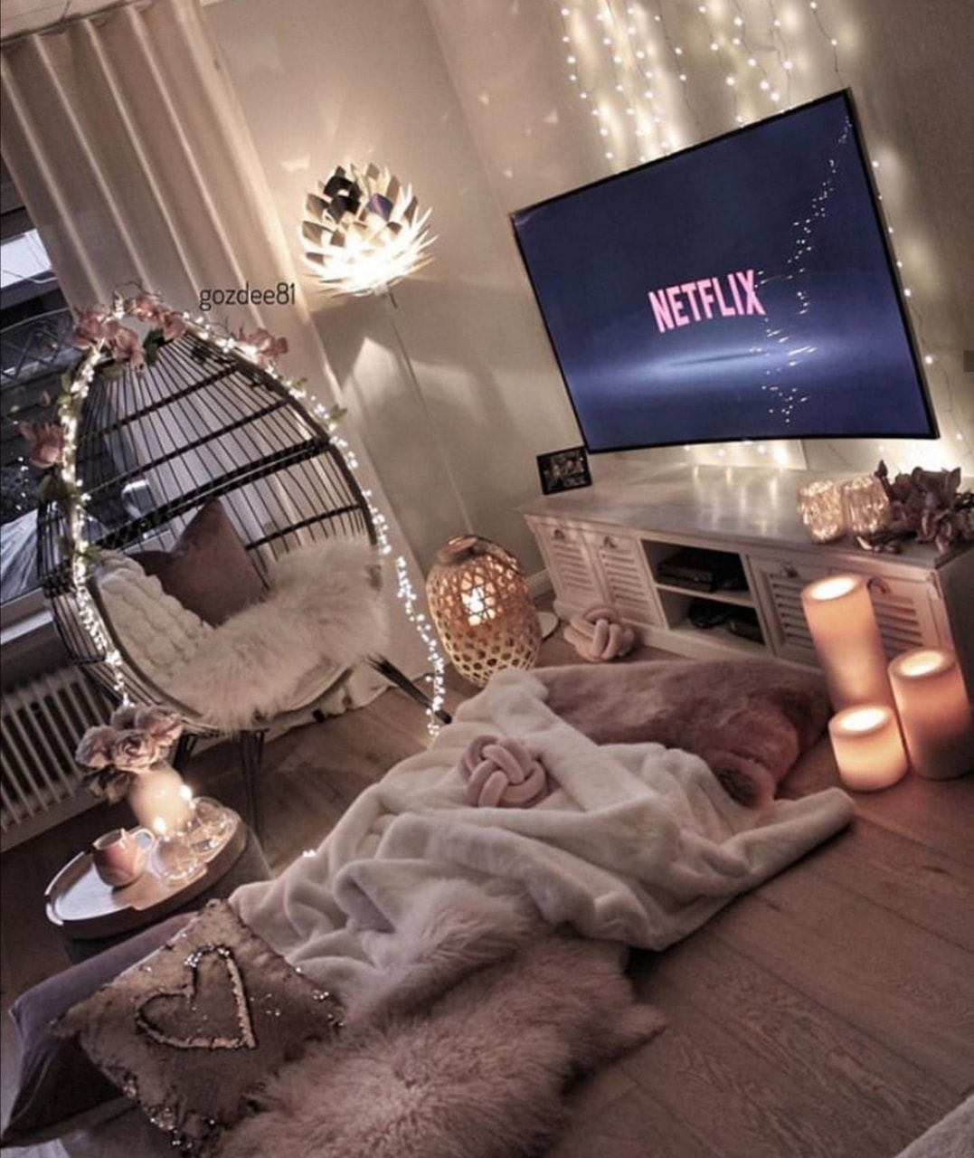 home, netflix, and cozy image
