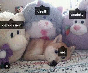 ?, anxiety, and death image