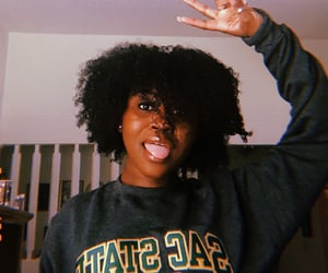 black girl, natural, and college image