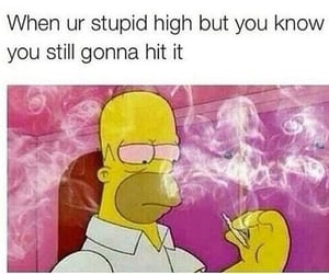 marijuana, weed, and thesimpsons image