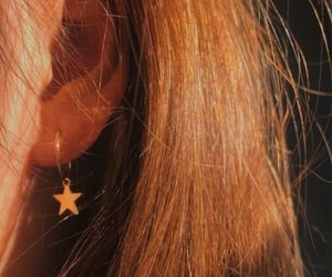 aesthetic, earrings, and golden image