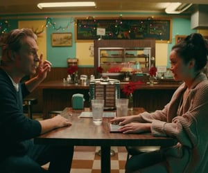 dad, diner, and lara jean covey image