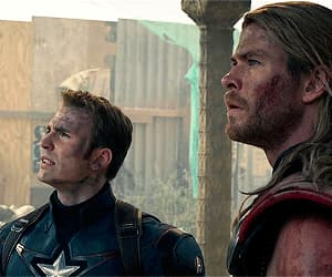film, thor, and steve rogers image
