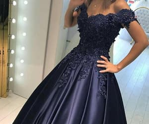 ball gown, prom dress, and dress image