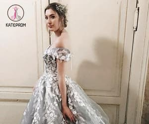 ball gown, formal dress, and off shoulder prom dress image