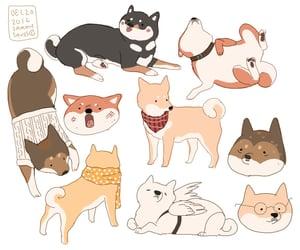 art, doodles, and dog image