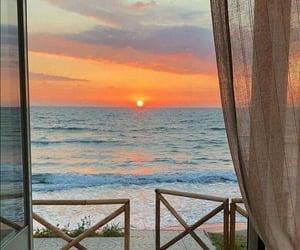 atardecer, sunset, and beach image
