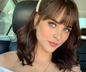 bangs, necklace, and pretty woman image