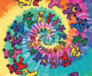 bears, trippy, and wallpaper image