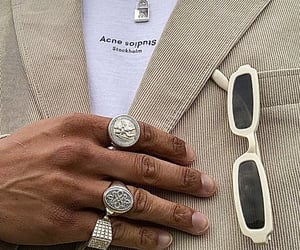 beige, rings, and chains image