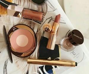 beauty, girl, and lipstick image