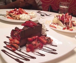 chocolate, food, and strawberries image