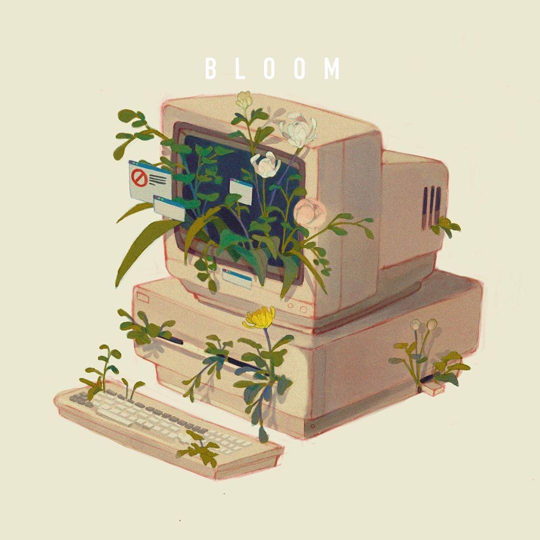 bloom, computer, and Daniel Chang image