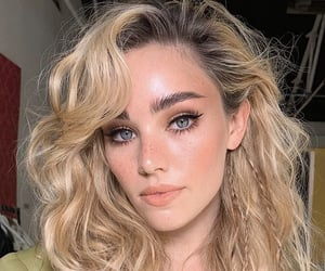 blond, gray eyes, and woman image
