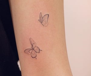 butterfly, tattoo, and art image