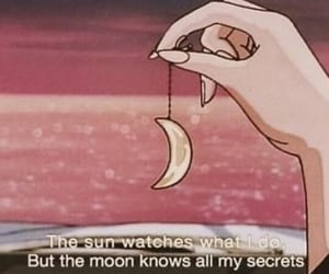 moon, quotes, and anime image