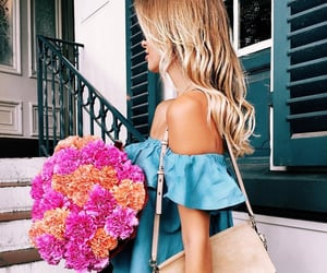 bag, blonde, and fashion girl image