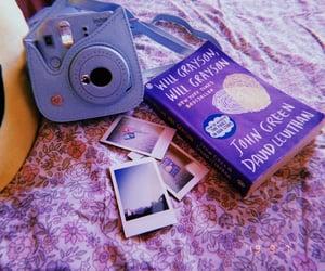 camera, polaroid, and john green image