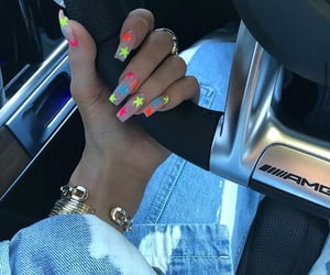 car, nails, and kylie jenner image
