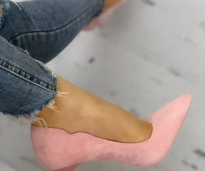 ankle, high, and pink image